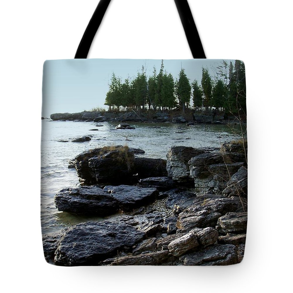 Washington Island Tote Bag featuring the photograph Washington Island Shore 1 by Anita Burgermeister