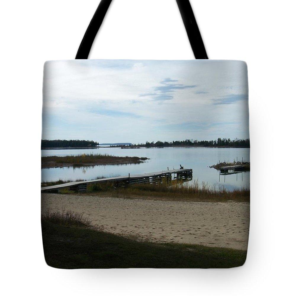 Washington Island Tote Bag featuring the photograph Washington Island Shore 2 by Anita Burgermeister