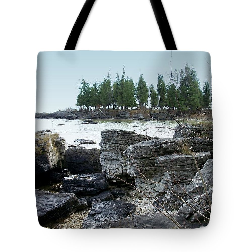 Washington Island Tote Bag featuring the photograph Washington Island Shore 3 by Anita Burgermeister