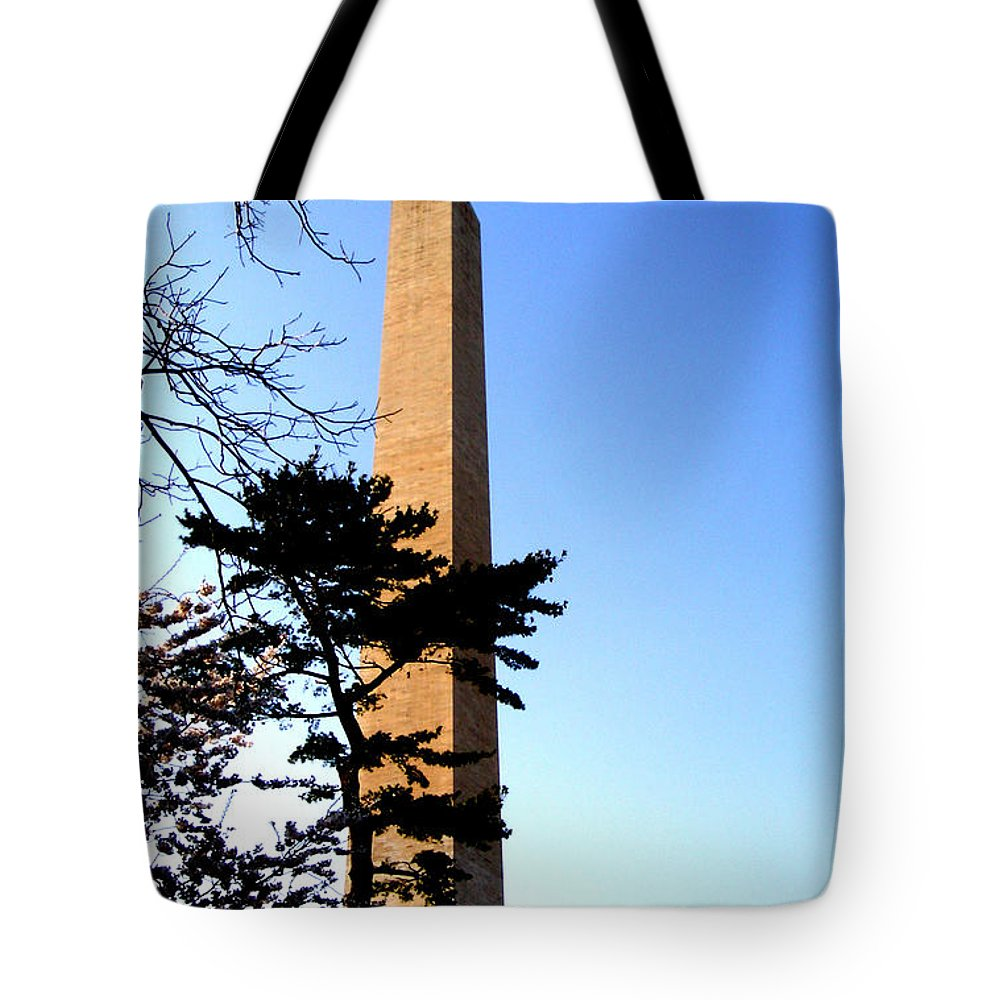 Washington Tote Bag featuring the photograph Washington Monument At Dusk by Douglas Barnett