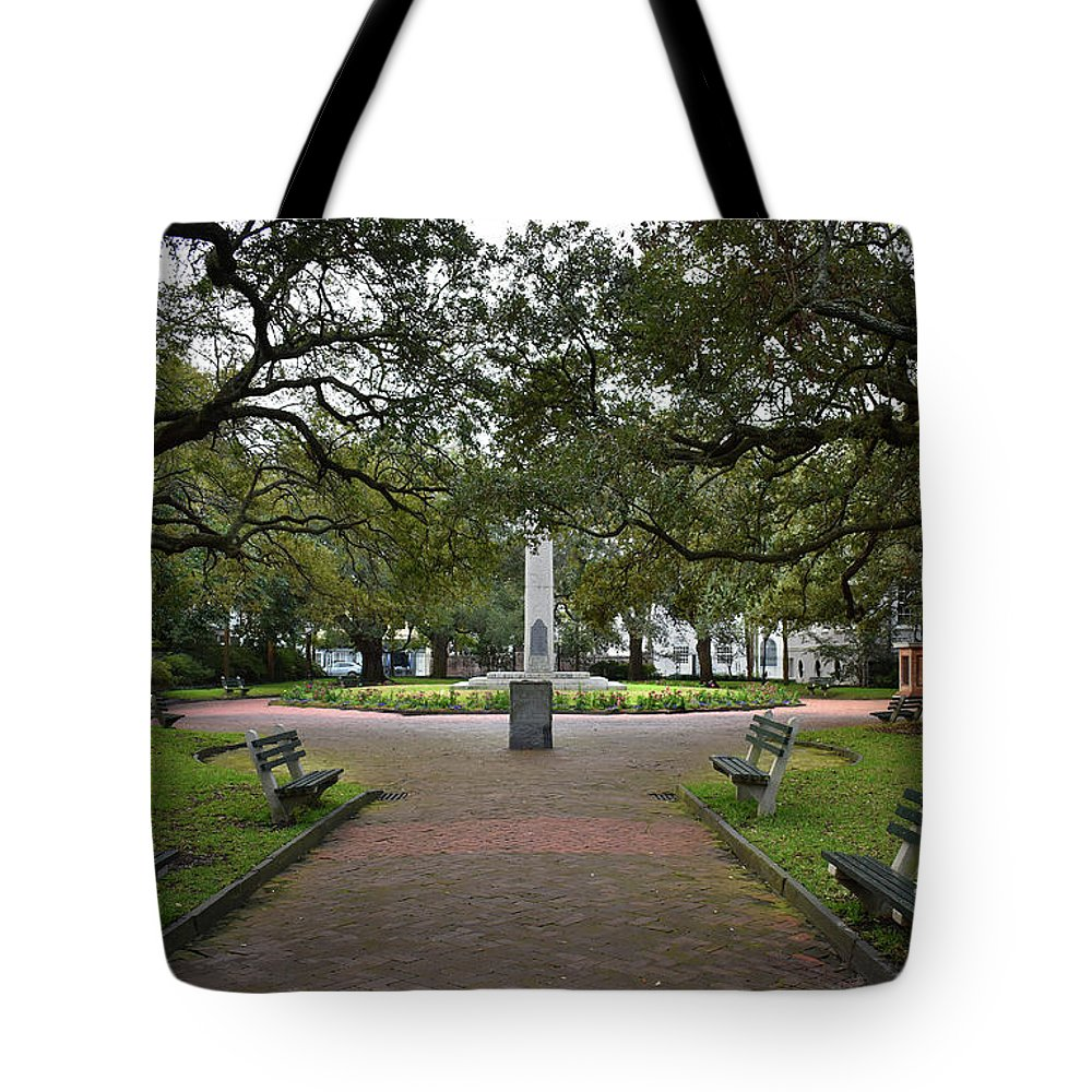 Culture Tote Bag featuring the photograph Washington Park, Charleston, Sc by Skip Willits
