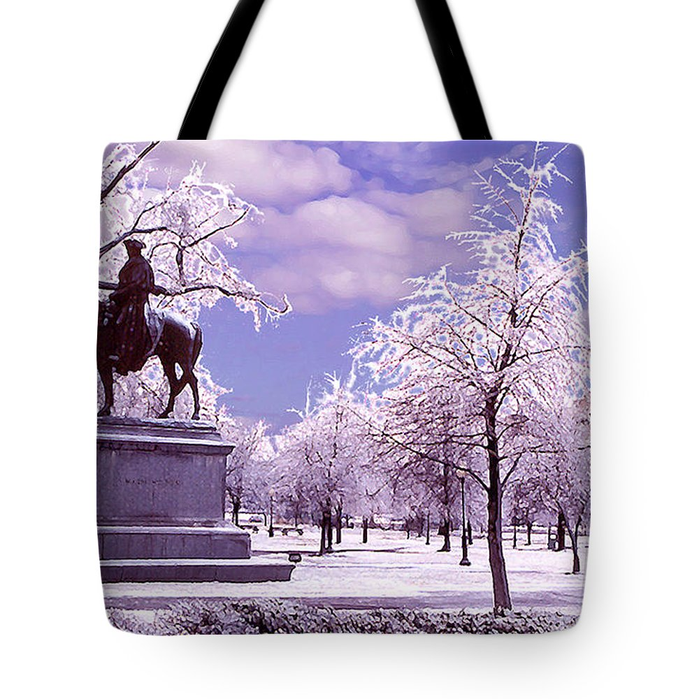 Landscape Tote Bag featuring the photograph Washington Square Park by Steve Karol