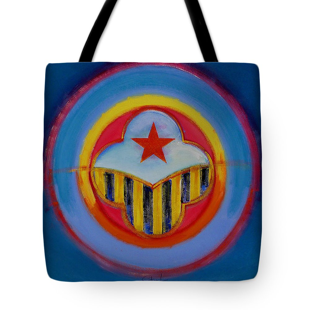 Button Tote Bag featuring the painting Wasp by Charles Stuart