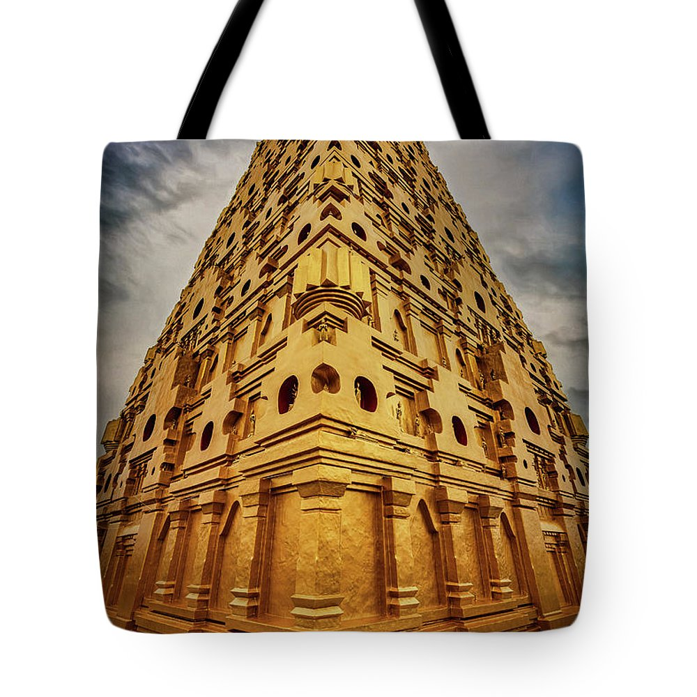 Temple Tote Bag featuring the photograph Wat Mon Sangkhlaburi by Adrian Evans