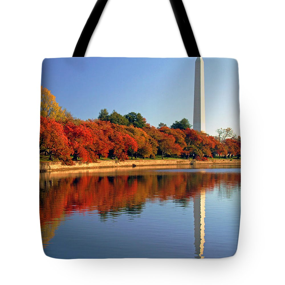 Autumn Tote Bag featuring the photograph Watch The Leaves Turn by Mitch Cat