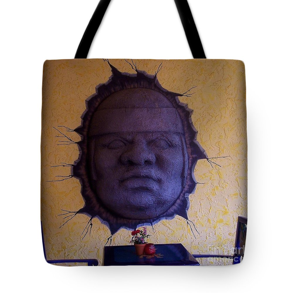 Face Tote Bag featuring the photograph Watch What You Eat by Debbi Granruth