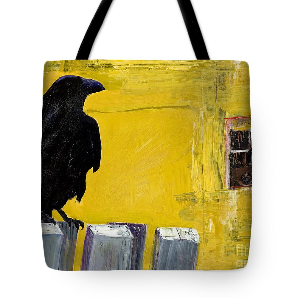 Pat Saunders-white Canvas Prints Tote Bag featuring the painting Watching by Pat Saunders-White
