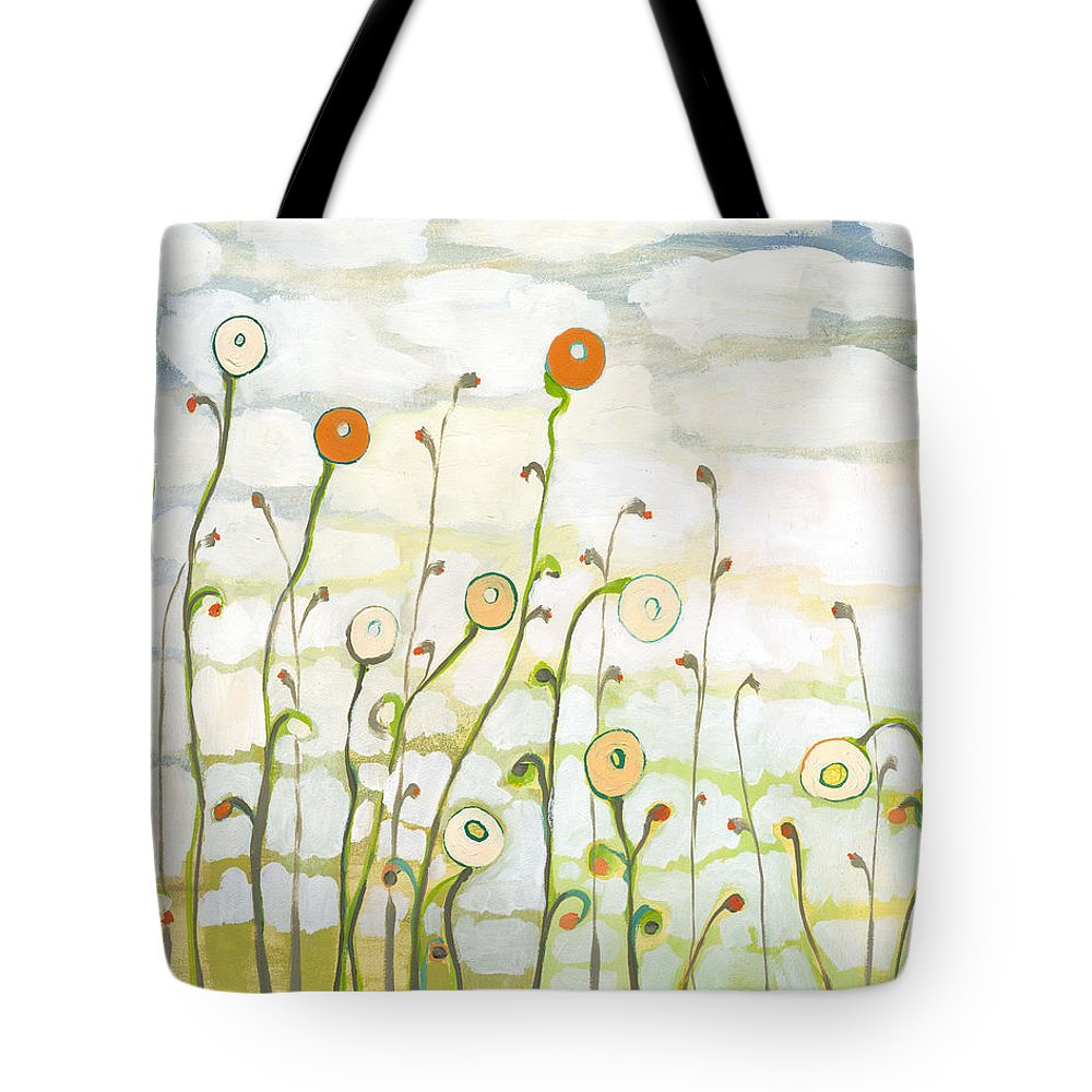Clouds Tote Bag featuring the painting Watching the Clouds Go By No 2 by Jennifer Lommers