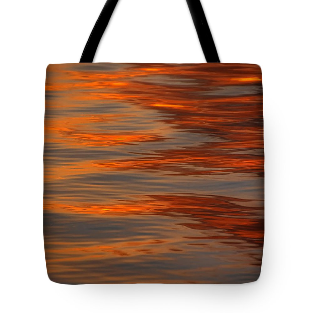 Sunrise Tote Bag featuring the photograph Water Abstract 1 1 14 by Carolyn Fletcher