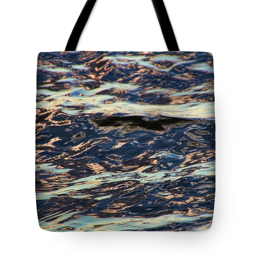Water Tote Bag featuring the photograph Water Abstract 3 24 15 by Carolyn Fletcher