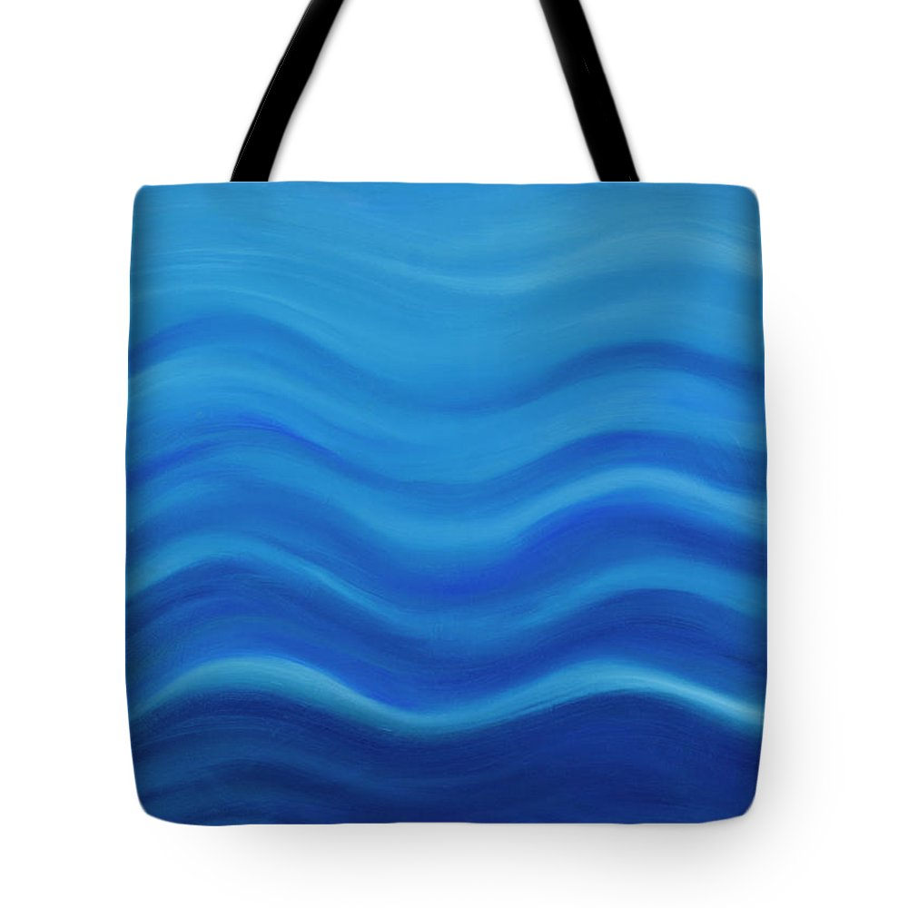 Water Tote Bag featuring the painting Water by Adamantini Feng shui