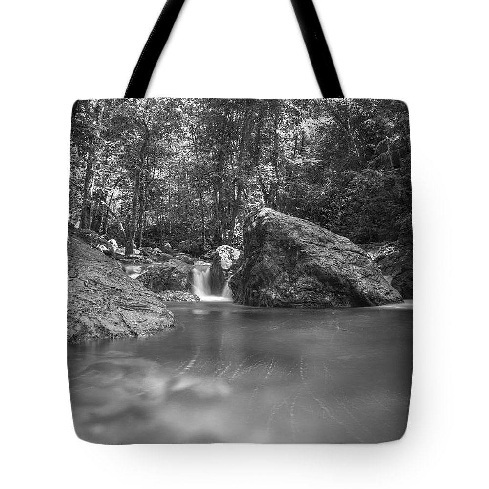 Streams Water Tote Bag featuring the photograph Water And Lighty by Paul Chong