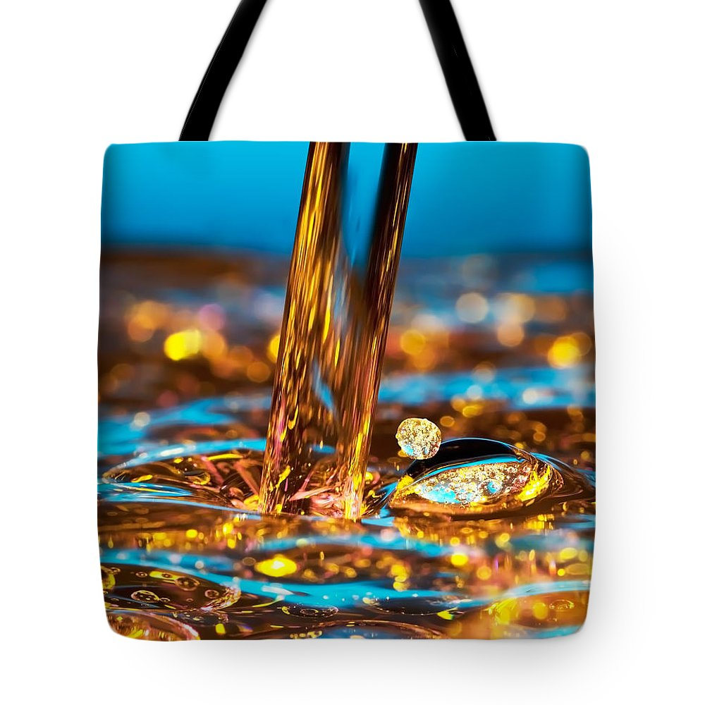 Abstract Tote Bag featuring the photograph Water And Oil by Setsiri Silapasuwanchai