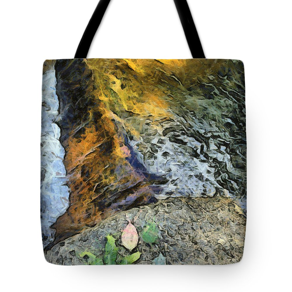 Water Stream Tote Bag featuring the photograph Water And Rock by Ashish Agarwal