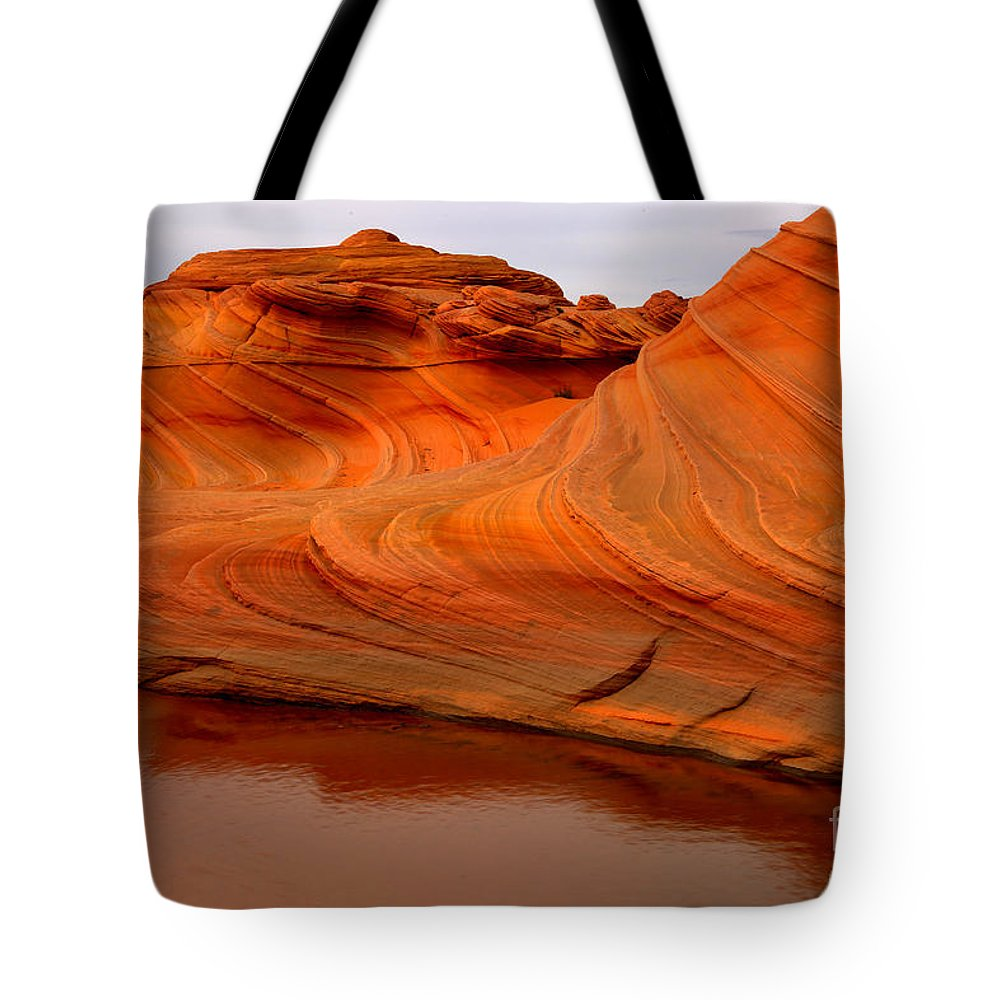 The Wave Tote Bag featuring the photograph Water And The Wave by Adam Jewell