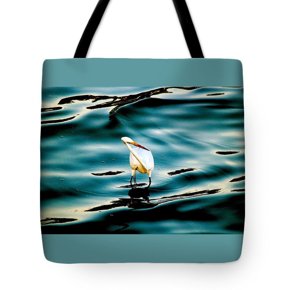 Water Bird Series Tote Bag featuring the photograph Water Bird Series 33 by Stephen Poffenberger