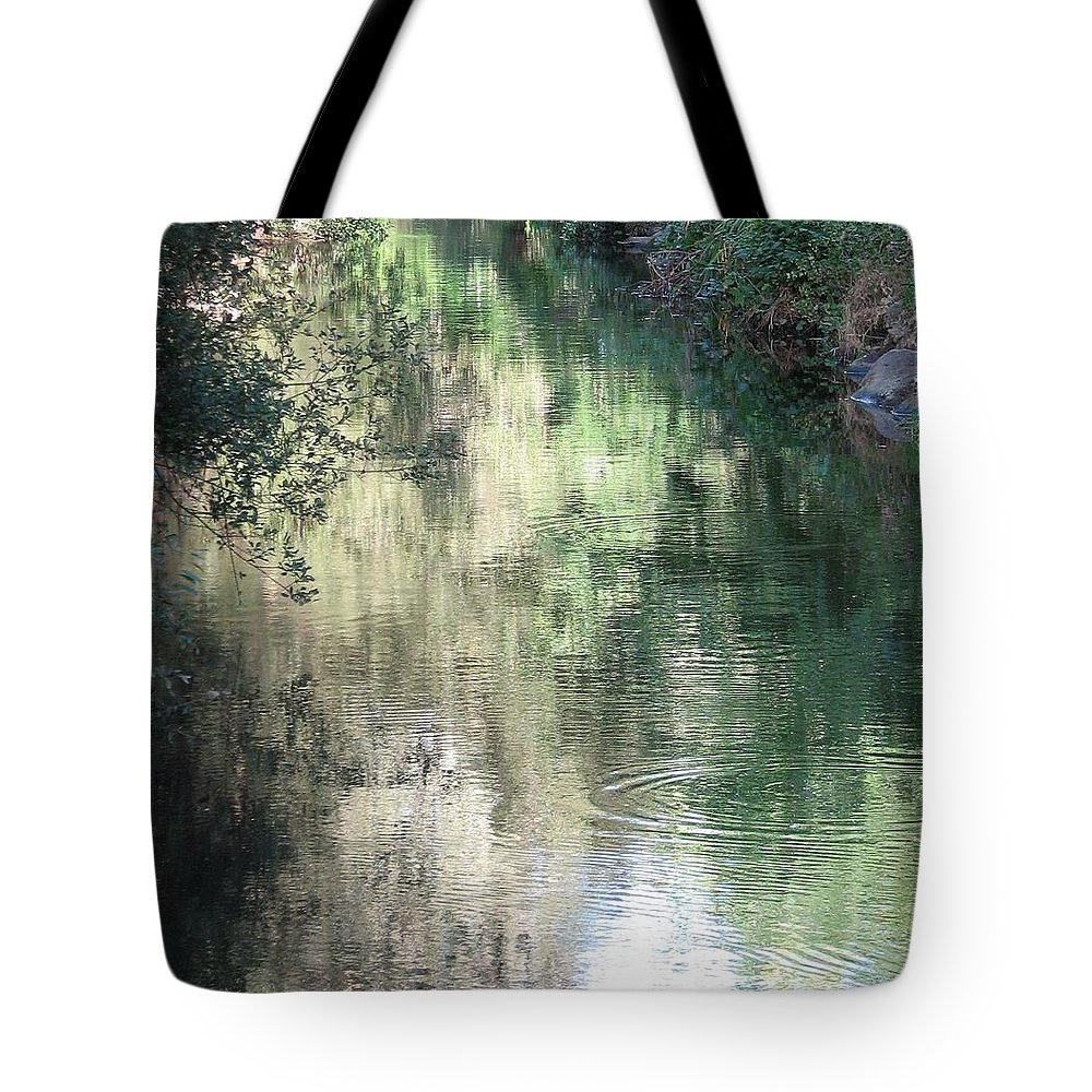 Reflection Tote Bag featuring the photograph Water Color by Kelly Mezzapelle