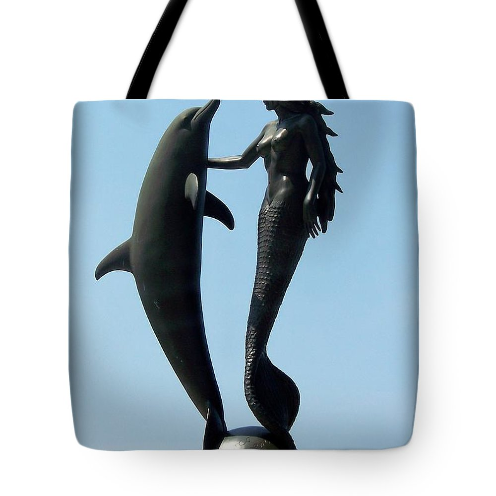 Mermaids Tote Bag featuring the photograph Water Dance by Karen Wiles