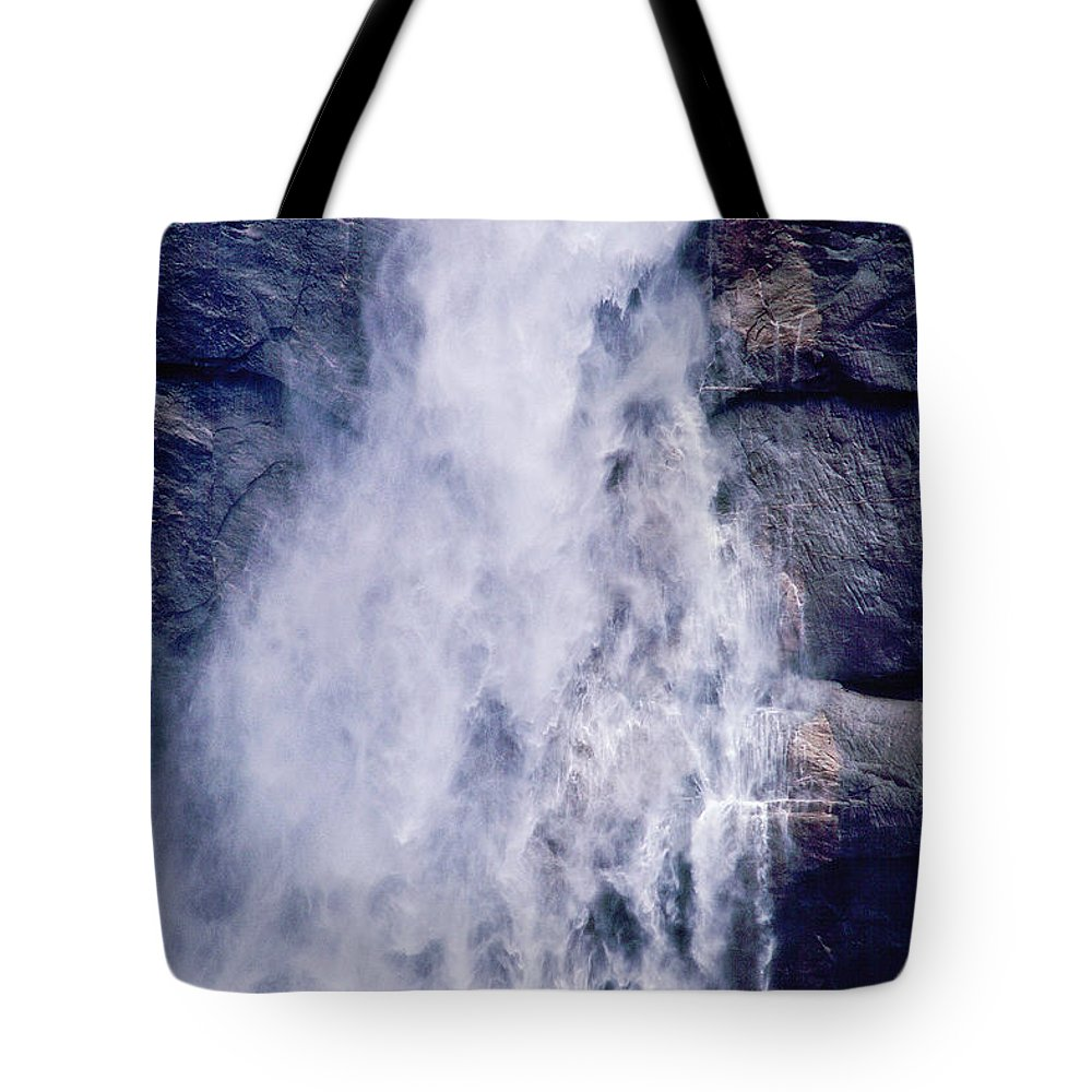 Waterfall Tote Bag featuring the photograph Water Drops by Kathy McClure