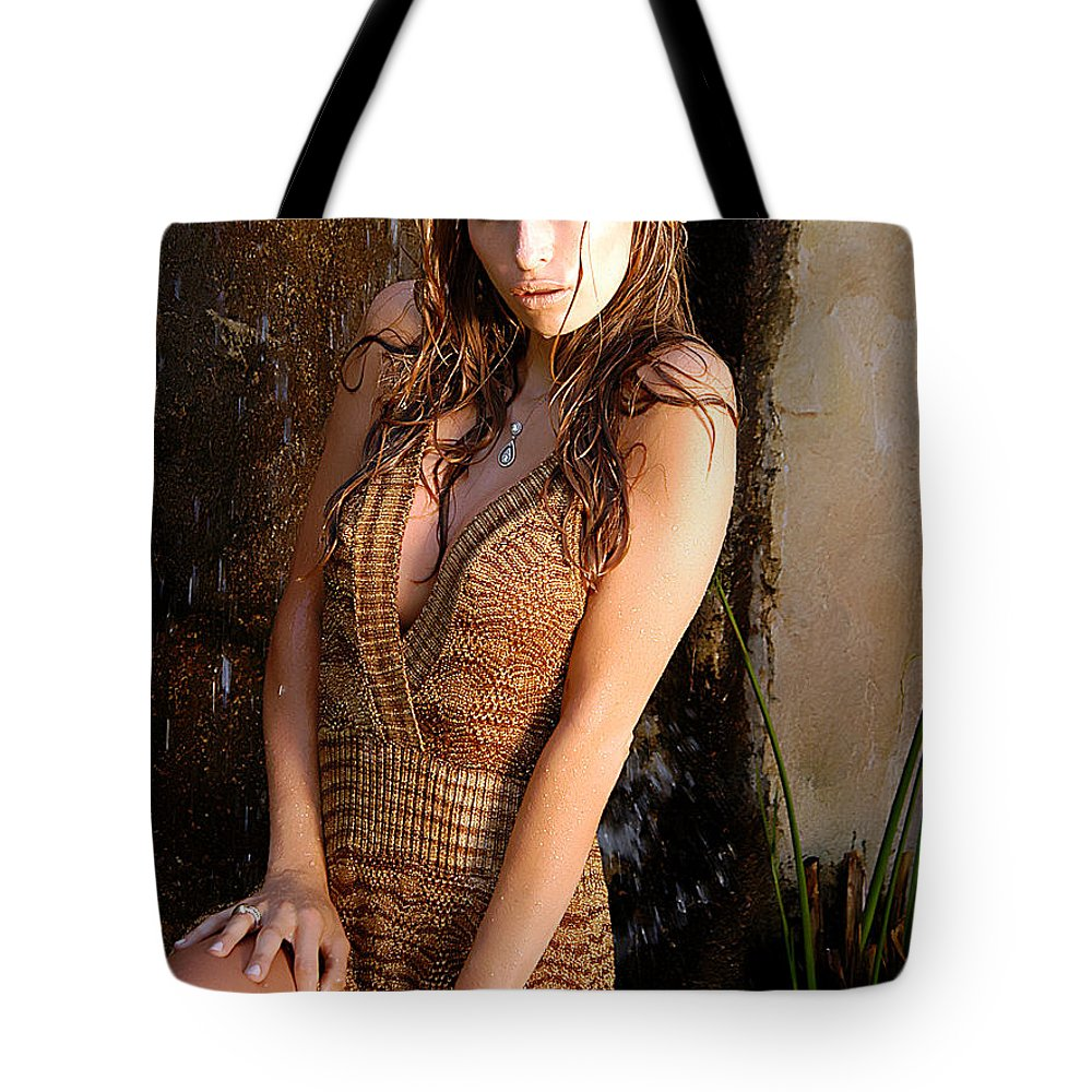 Clay Tote Bag featuring the photograph Water Fall Beauty by Clayton Bruster