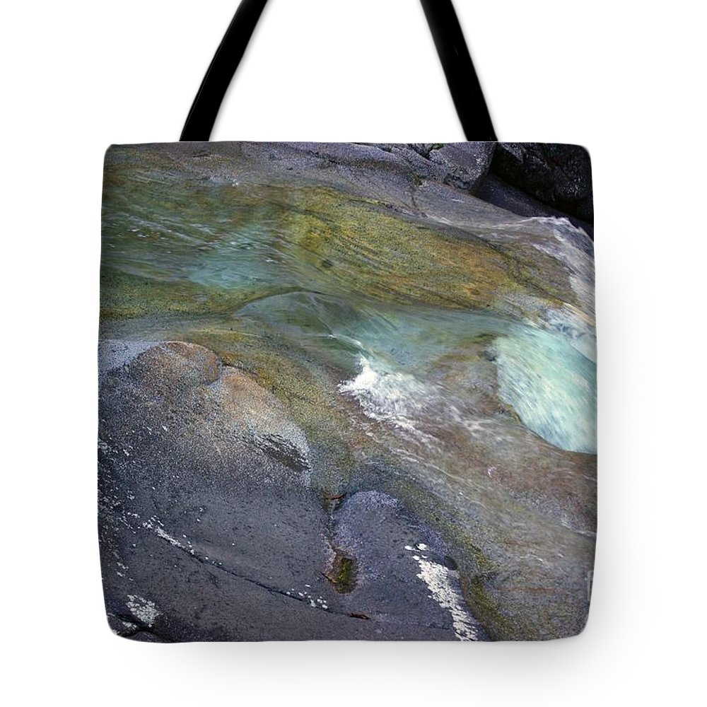 Tropical Tote Bag featuring the photograph Water Flow by Kerryn Madsen- Pietsch
