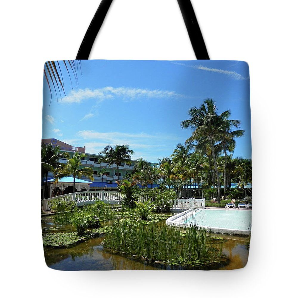 Water Tote Bag featuring the photograph Water Garden by Pema Hou