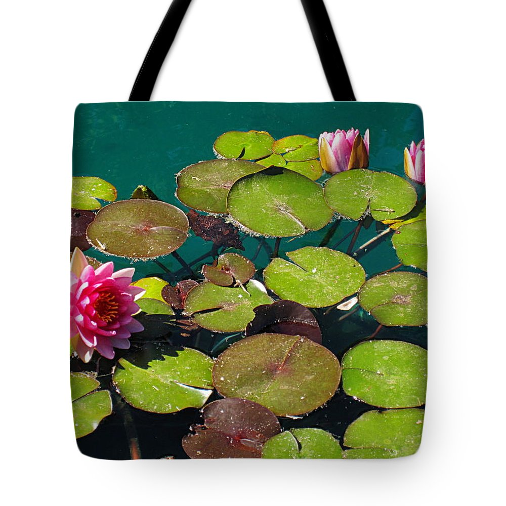 Ponds Tote Bag featuring the photograph Water Lilies 1 by Bonita Brandt