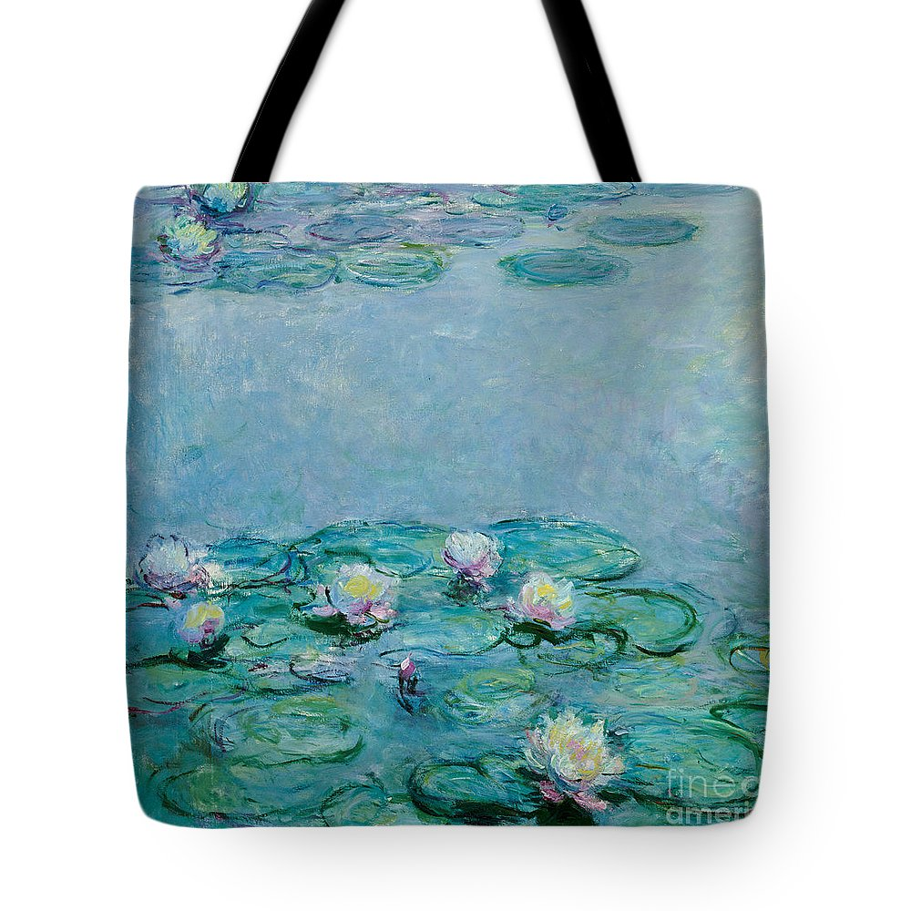 French Tote Bag featuring the painting Water Lilies by Claude Monet