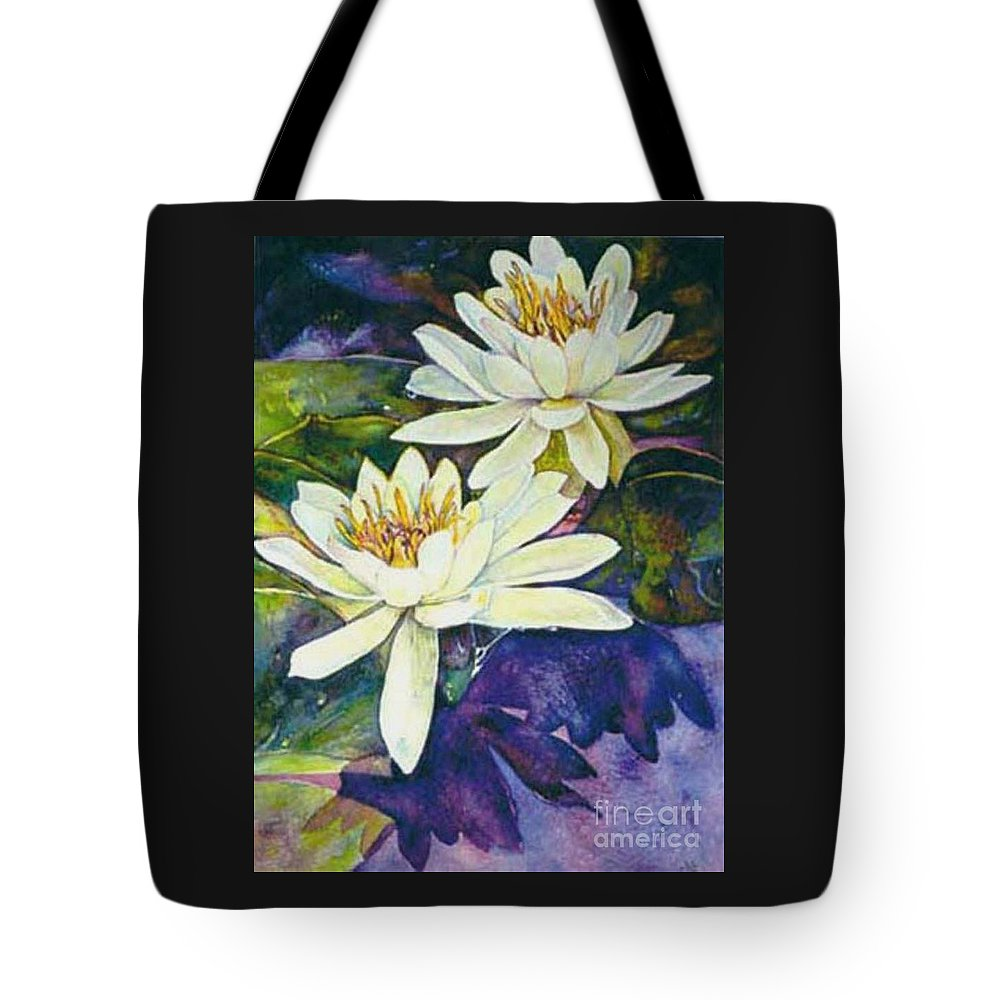 Flower Tote Bag featuring the painting Water Lilies by Norma Boeckler