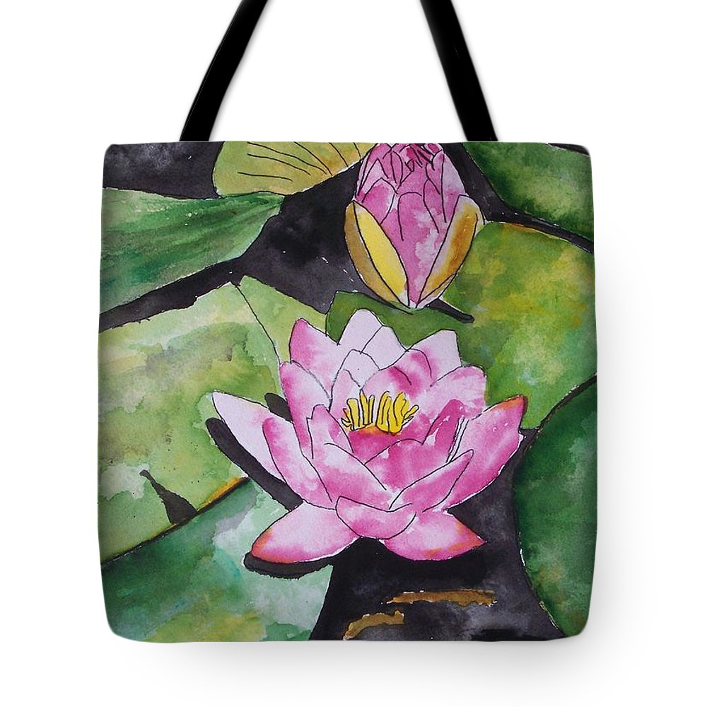 Water Lily Tote Bag featuring the painting Water Lily by Derek Mccrea
