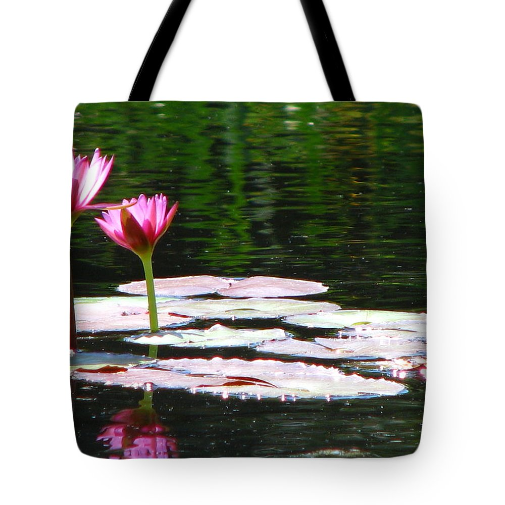 Patzer Tote Bag featuring the photograph Water Lily by Greg Patzer