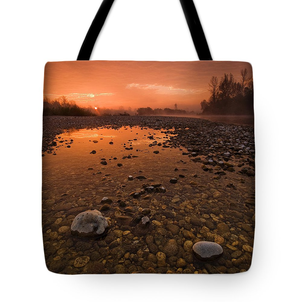 Landscape Tote Bag featuring the photograph Water On Mars by Davorin Mance