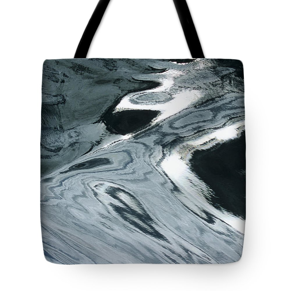 Abstract Tote Bag featuring the photograph Water Patterns by Larry Dale Gordon - Printscapes