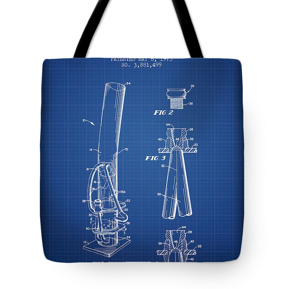 Water Pipe Or Bong Patent 1975 Blueprint Tote Bag For Sale By Aged