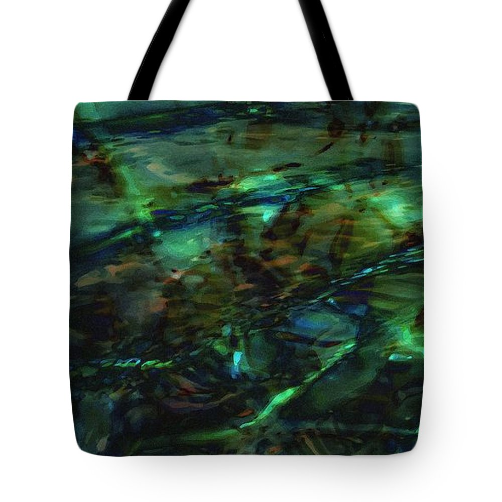 Abstraction Tote Bag featuring the digital art Water Play by Max Steinwald