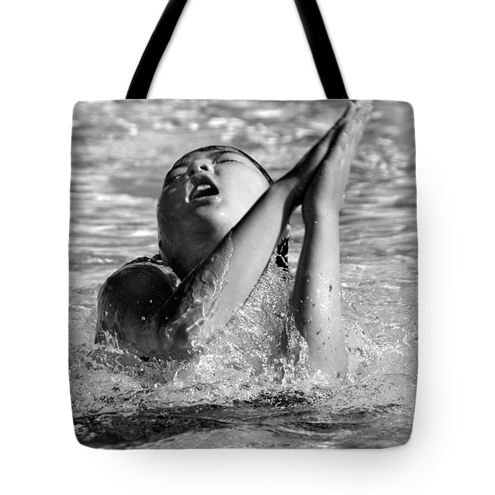 People Tote Bag featuring the photograph Water Prayer 2009 by Michael Ziegler