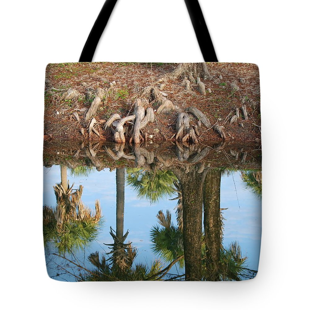 Roots Tote Bag featuring the photograph Water Reflections by Rob Hans