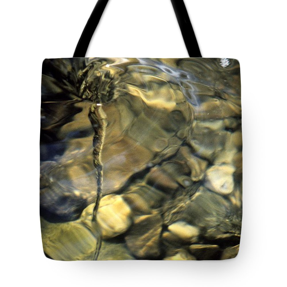Water Creek Fourmile Canyon Spout Nature Water Rocks Colorado Tote Bag featuring the photograph Water Spout by George Tuffy