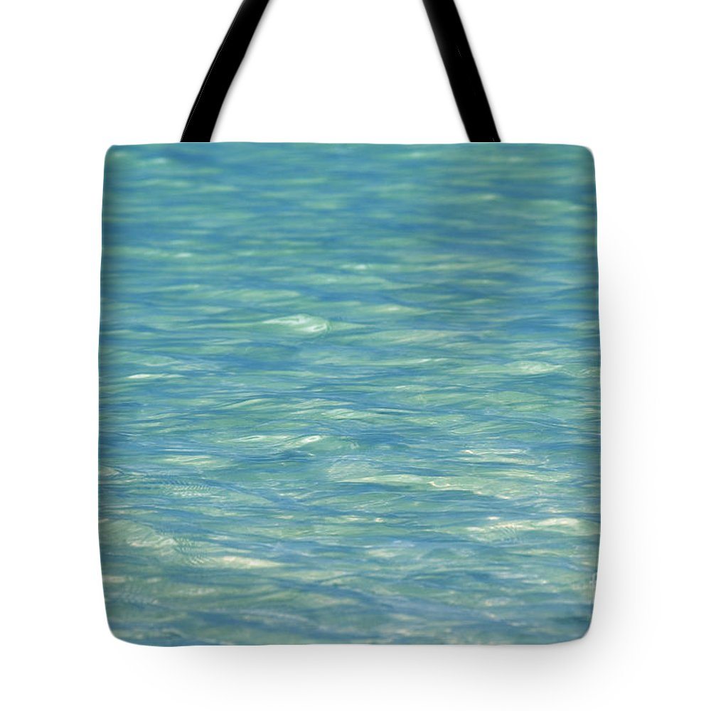 Afternoon Tote Bag featuring the photograph Water Texture by Mary Van de Ven - Printscapes
