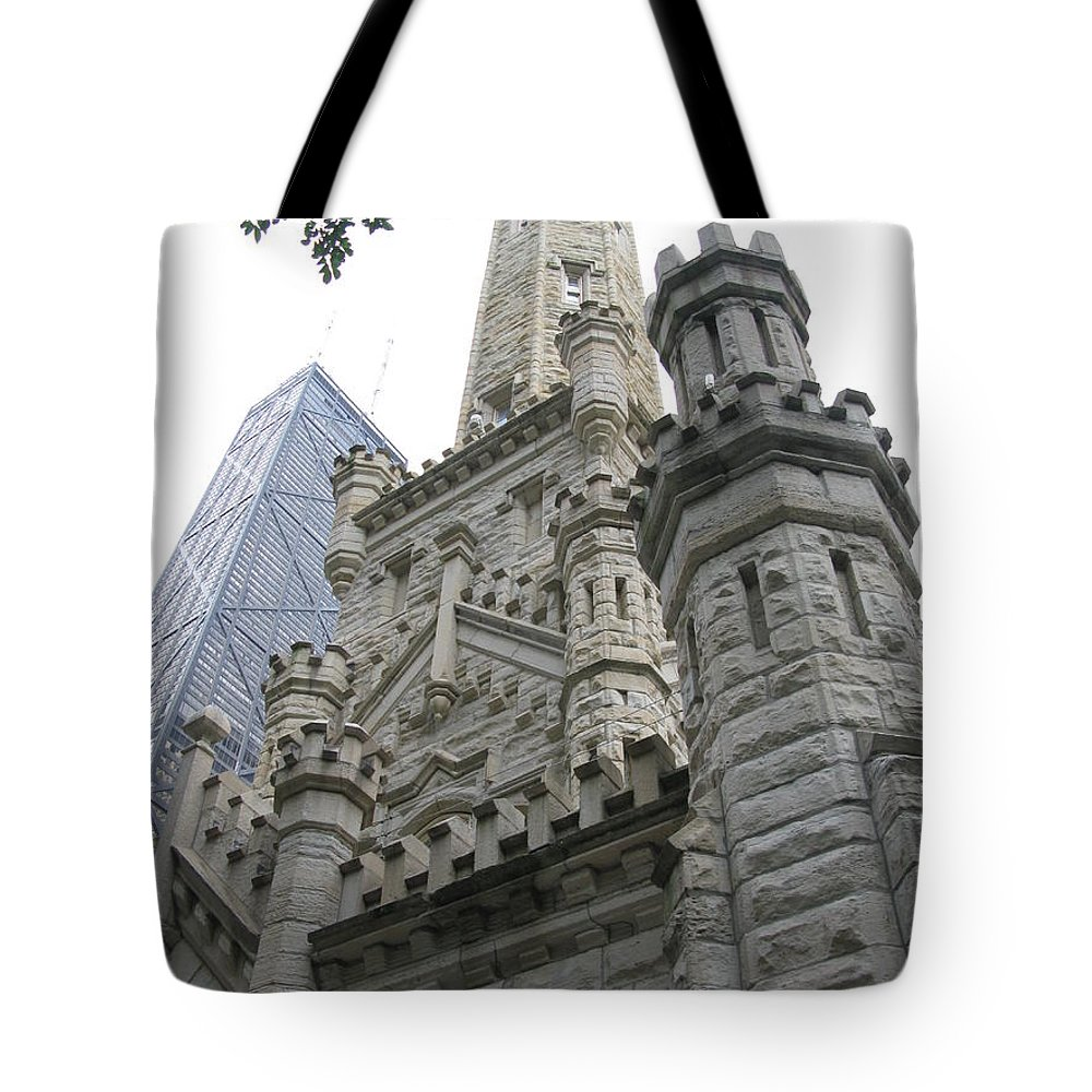 Chicago Tote Bag featuring the photograph Water Tower And Sears Tower by Brittany Horton