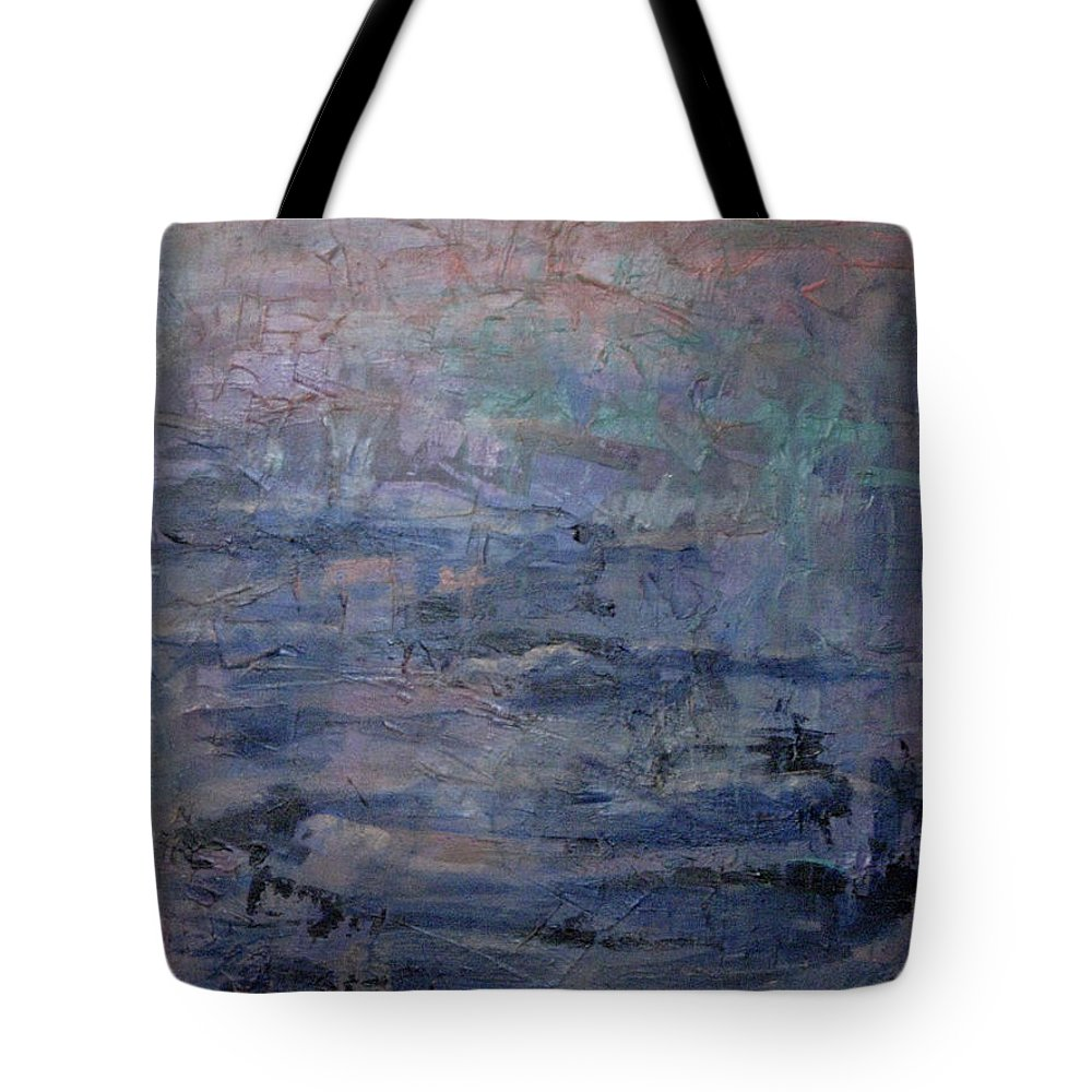 Abstract Tote Bag featuring the painting Water Water Everywhere by Connie Freid