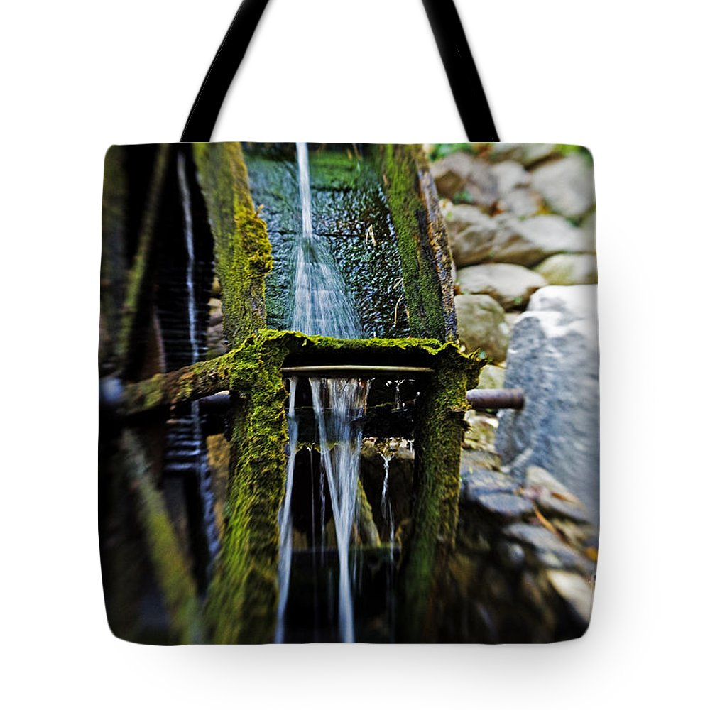Water Wheel Tote Bag featuring the photograph Water Wheel by Scott Pellegrin