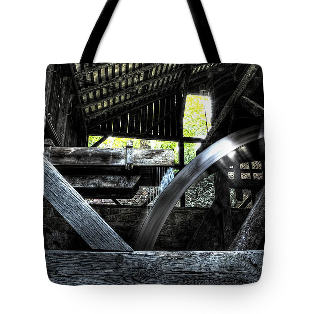 Farm Tote Bag featuring the photograph Water Wheel by Scott Wyatt
