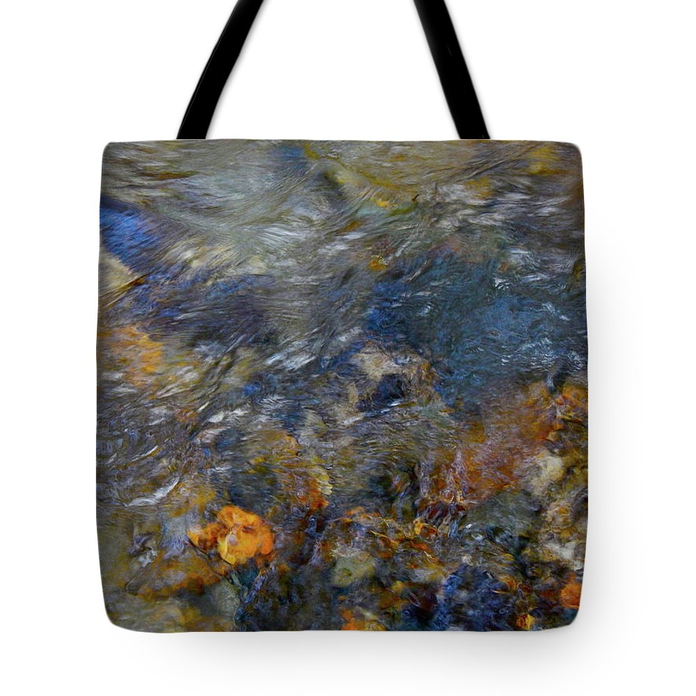 Colorful Water Art Tote Bag featuring the photograph Water Whimsy 178 by George Ramos