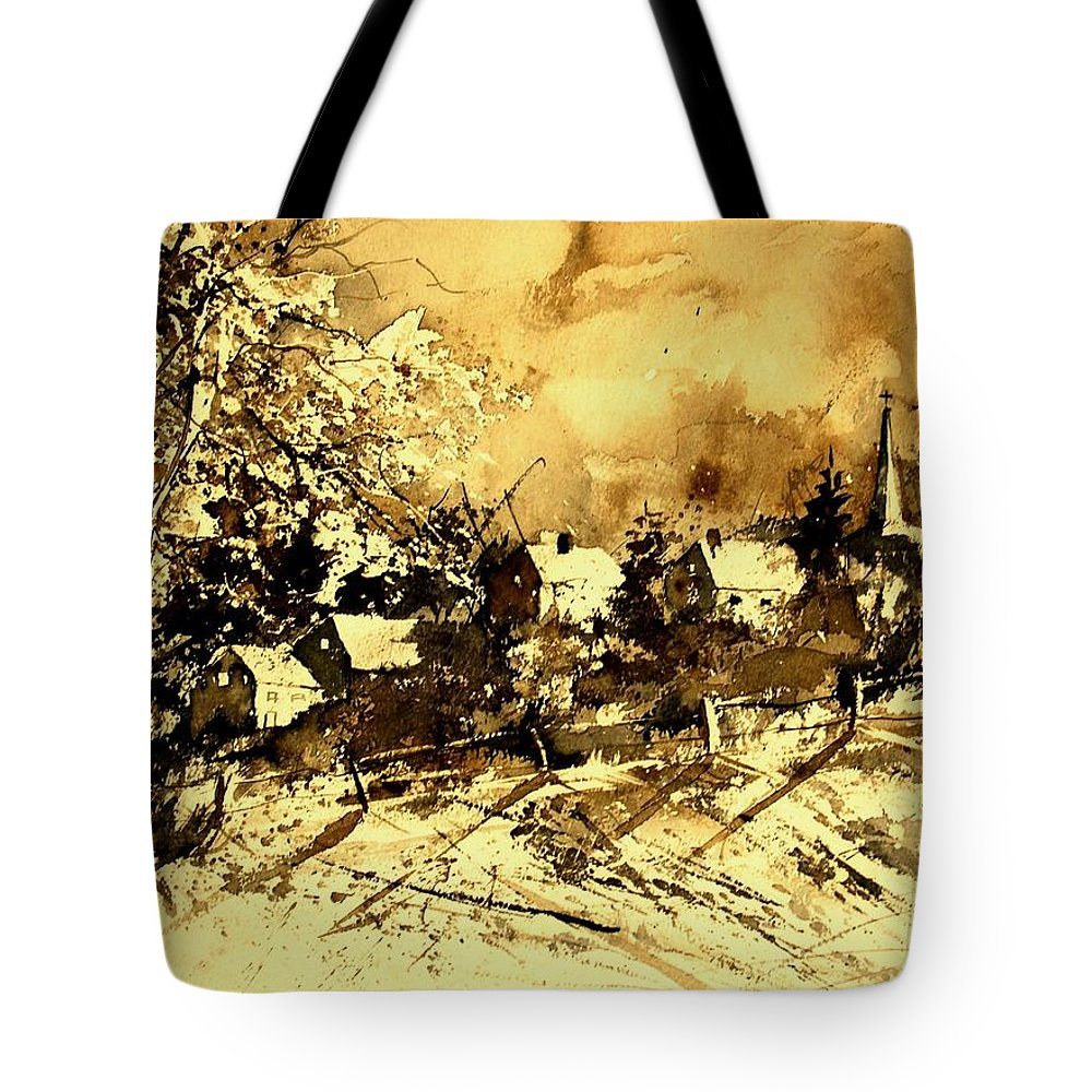 Tote Bag featuring the painting Watercolor 01 by Pol Ledent