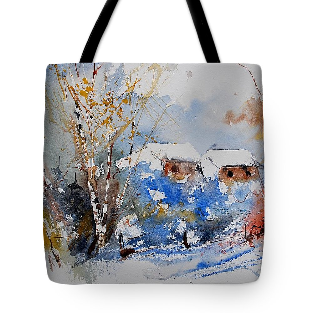 Landscape Tote Bag featuring the painting Watercolor 011020 by Pol Ledent