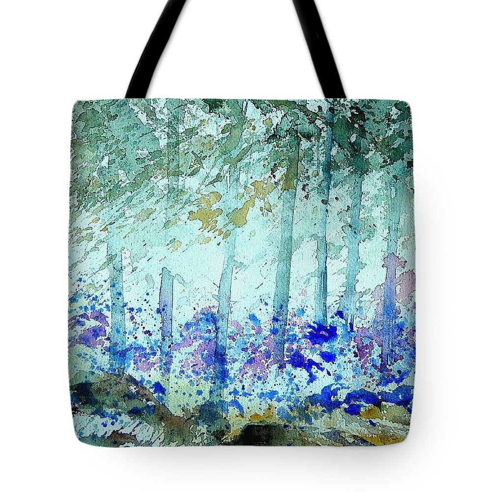 Tree Tote Bag featuring the painting Watercolor 011105 by Pol Ledent