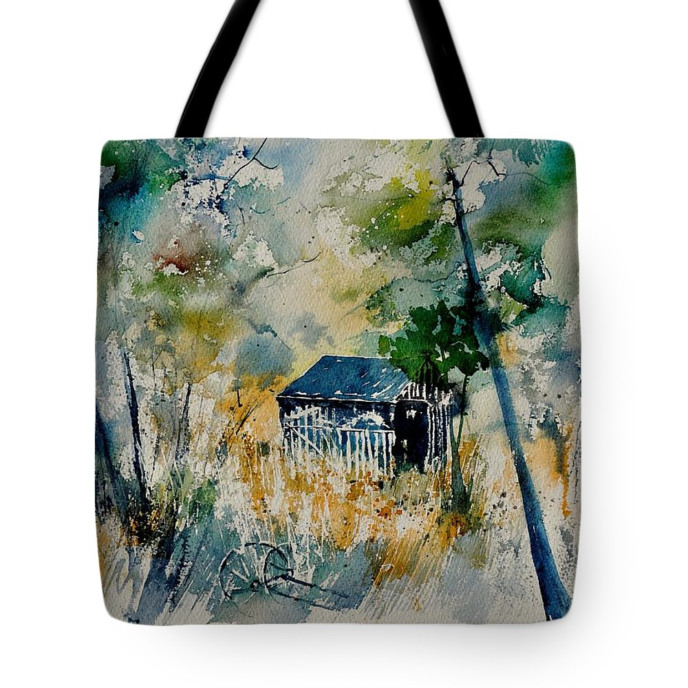 Landscape Tote Bag featuring the painting Watercolor 015042 by Pol Ledent