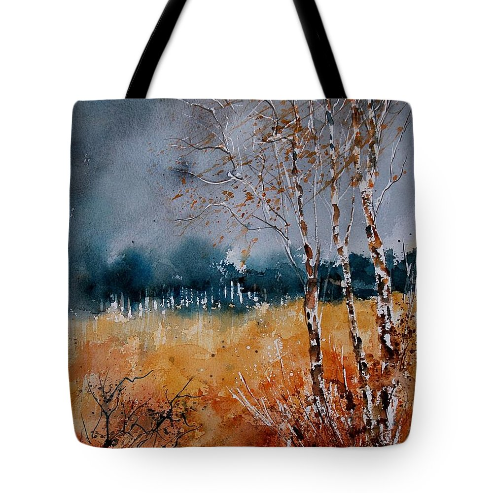 Tree Tote Bag featuring the painting Watercolor 030308 by Pol Ledent