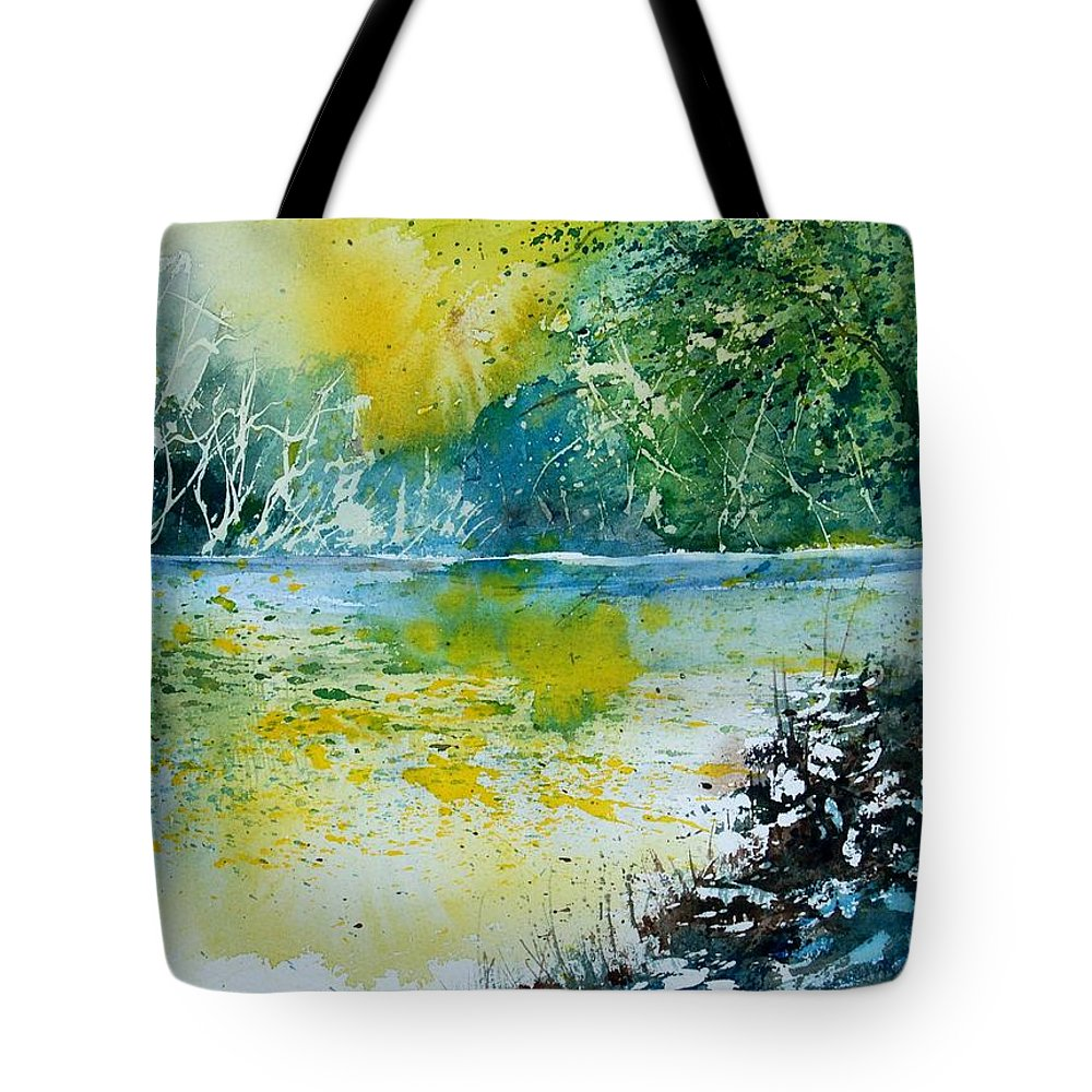 Pond Tote Bag featuring the painting Watercolor 051108 by Pol Ledent
